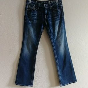 Miss Me Boot Cut Cowhide pockets jeans size 30